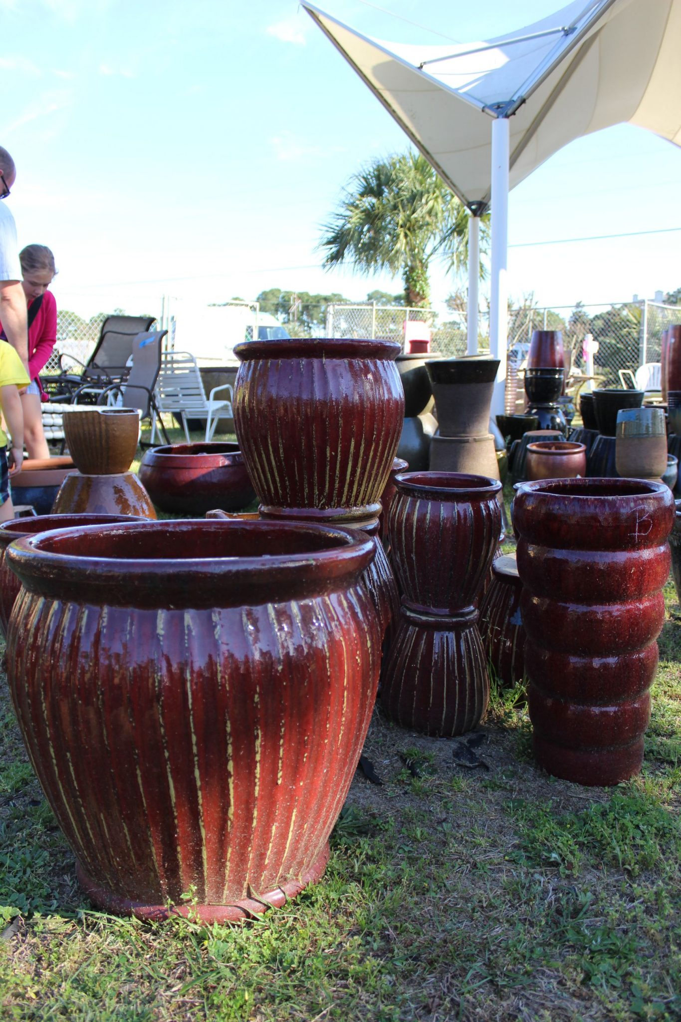 Pottery And Fountains U2013 Come Explore Our U201cpot Lotu201d Featuring A Wide  Selection Of Pots And Planters In An Array Of Sizes And Colors To Match Any  Décor.