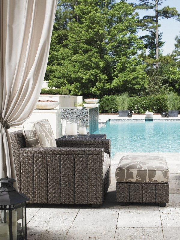 Blue Olive lounge chair &ottoman