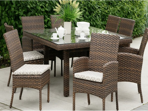 Ratana portfino dining table chairs Ratana outdoor furniture