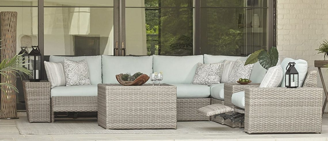 ... Sectionals and Balcony Height Outdoor Furniture. 18 Apr - New Outdoor Furniture Options Including Sectionals And Balcony