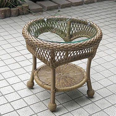 Round End Table (BW)